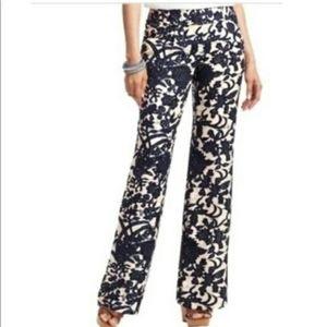 Loft Marisa wide leg floral trousers